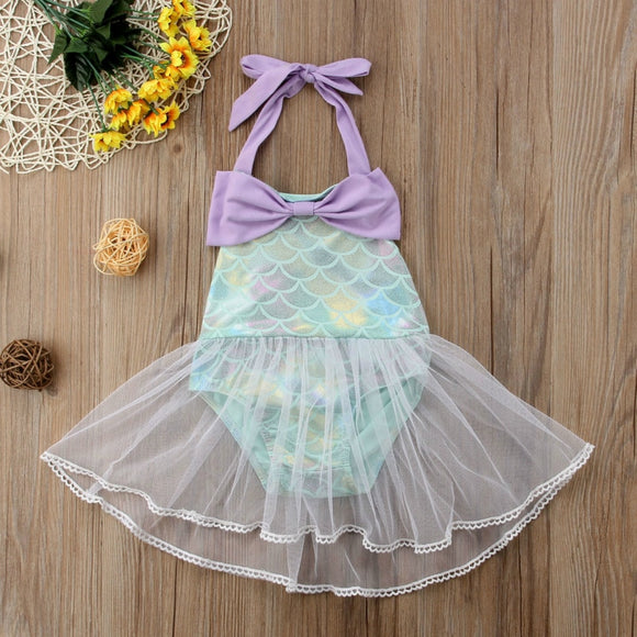 Mermaid Halter Tutu Swimsuit