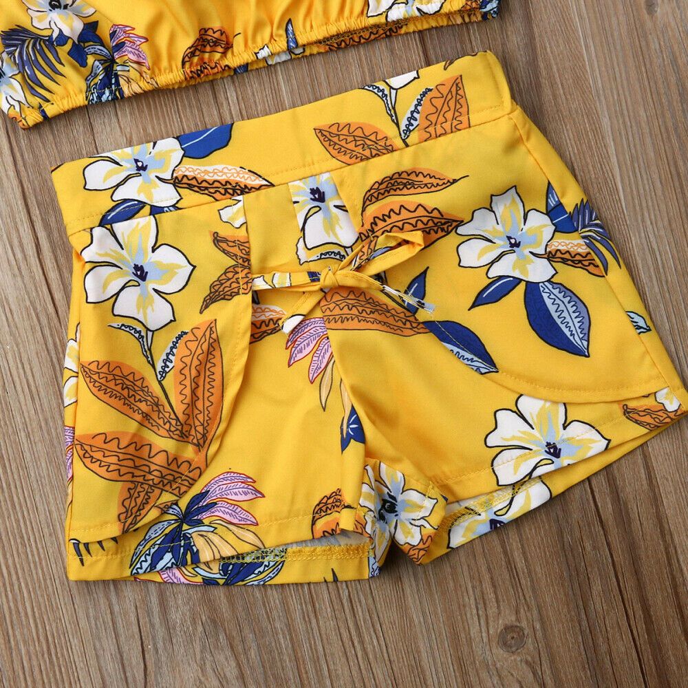 Yellow Floral Outfit Set