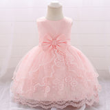 Formal Lace Floral Bowknot Princess Ball Gown