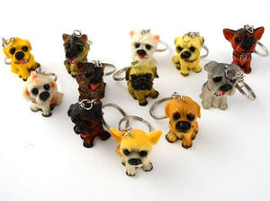 12 Piece Dog Key Chain (Assorted Pack) Durable Metal Keychains