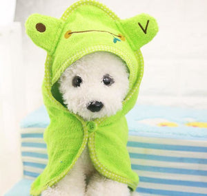 Absorbent Hooded Dog Bathrobe Towel