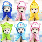 Absorbent Hooded Dog Bathrobe Sky Blue / L 55X55Cm Towel