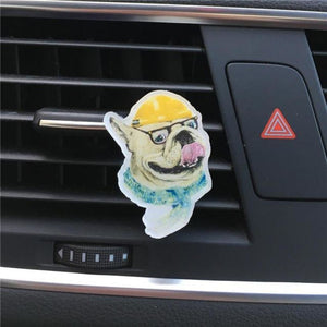 Acrylic Dog-Themed Car Air-Freshener Air Freshener