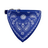 Adjustable Collar Scarf For Dogs Bandanna Blue / M Clothing