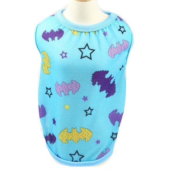 Comfy Cartoon-Print Dog T-Shirts (Ninja Turtles Batman Paw-Print) Light Blue / Xs Sweater