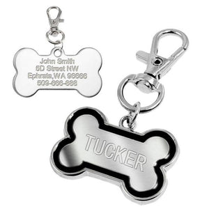 Customized Dog Name Tags Blue / L