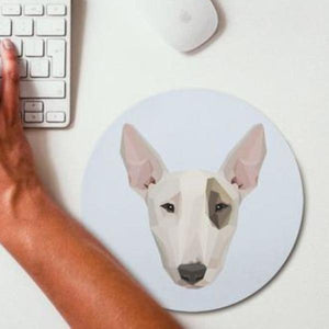 Dog Bull Terrier Mouse Pad Blue
