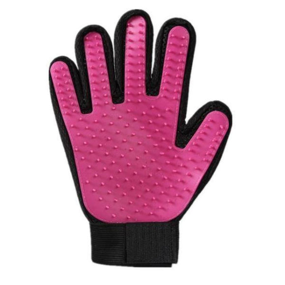 Dog De-Shedding And Massaging Glove Multi-Colors Shower Pink / For All Size Hand Grooming