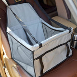 Dog Travel Car Seat Light Grey Bag