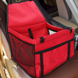 Dog Travel Car Seat Red Bag