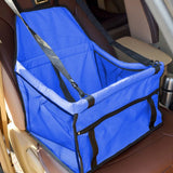 Dog Travel Car Seat Blue Bag