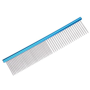 Dual-Patterned Stainless Steel Grooming Comb Pet Hair