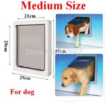 Easily-Installable Dog Door (Medium And Large Sizes Available) White / M