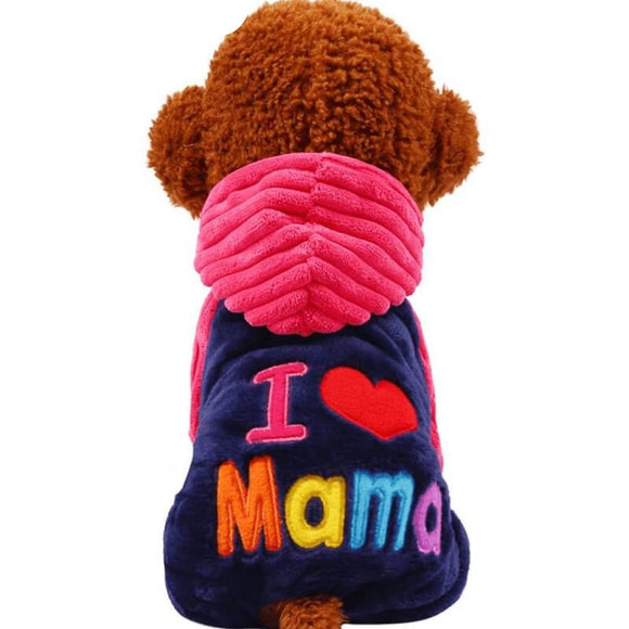 Fleece I Love Mama/papa Dog Sweater