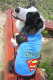 Large Cotton Dog Superman T-Shirts/ Costume Blue / 3Xl Clothing