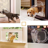 Lockable No-Noise Glass Dog Door