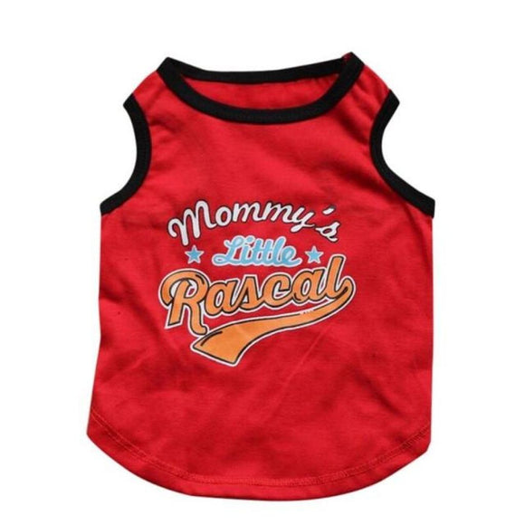 Mommys Little Rascal T-Shirt For Dogs Red / L Clothing