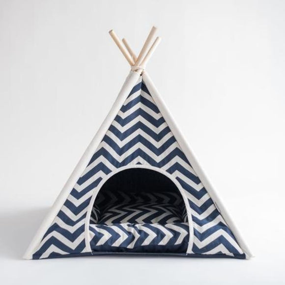 Navy Blue Teepee Bed For Dogs Dog Bed