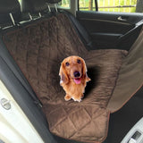 Non-Slip Waterproof Car Cover/hammock For Dogs Coffee-Brown Seat Covers