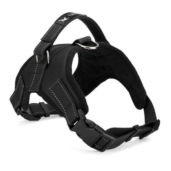 Padded Heavy-Duty Chest Harness For Dogs Black / M Harnesses