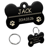 Personalized Dog Id Tag Black / L Name Tags