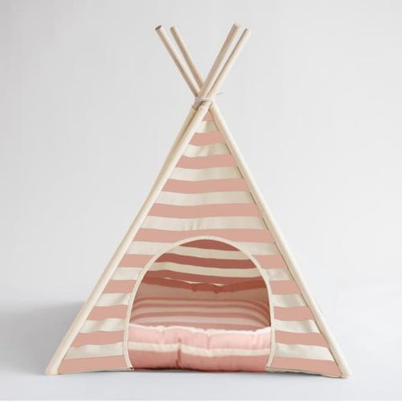 Pink Teepee Lily Bed For Dogs Dog Bed