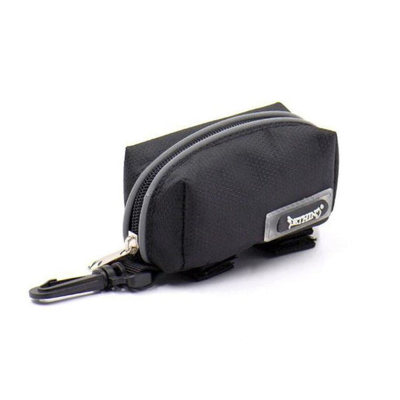 Poop Bag Fanny-Pack Dispenser Black Bags