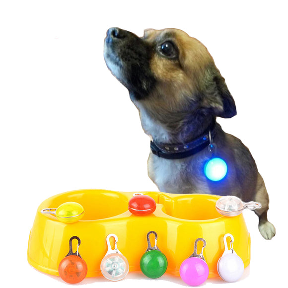 Night-Safety Push Button Led Flashlight For Dogs Collars Collar Light