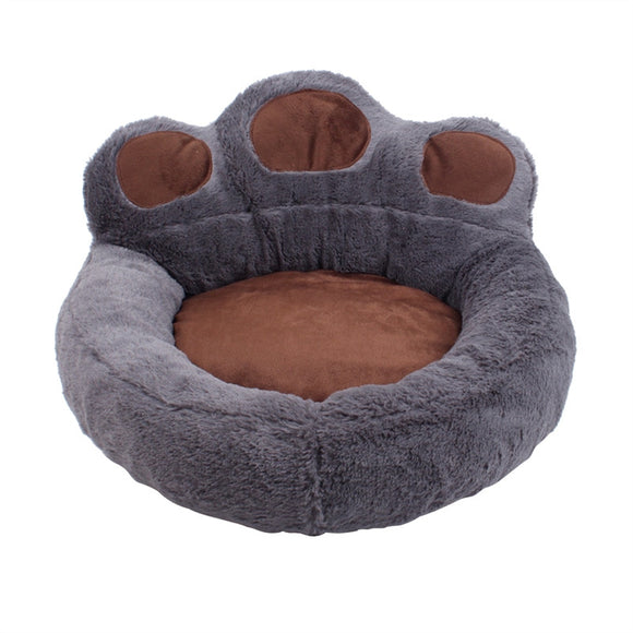 Bear Paw Bed For Dogs Grey + Brown Dog