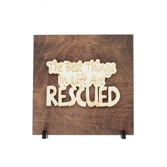 Rescue Dog Sign