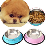 Stainless Steel Anti-Skid Dog Feeding Bowl Bowls & Feeders