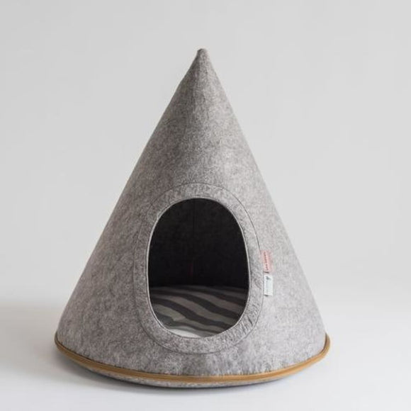 Sterling Grey Dog Cave Bed Dog Bed