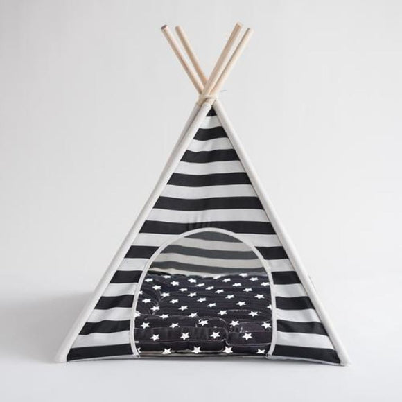 Stripped Teepee Dog Bed