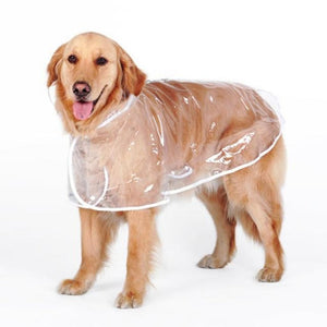 Transparent Dog Raincoat (For Medium And Large Dogs) / 3Xl