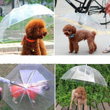 Transparent Leash Dog Umbrella Dog Umbrella