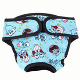 Washable Dog Diapers/menstruation Briefs Baby Blue / S Diapers