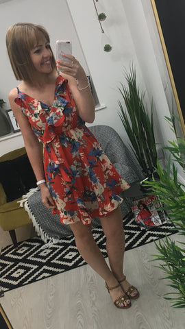 Moo Boutique Floral Frill Dress