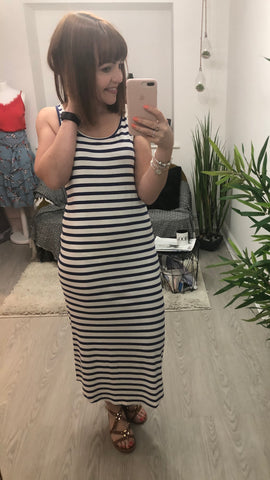 Saint Tropez Striped Maxi Dress