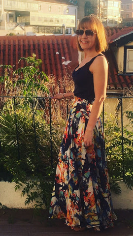 Moo Boutique Floral Floaty Maxi Skirt