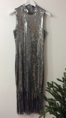 Moo Boutique Silver Sequin Dress