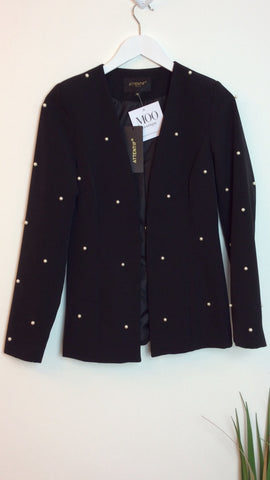 Moo Boutique Fitted Pearl Blazer