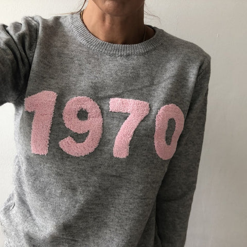 Moo Boutique 1970 Slogan Knit