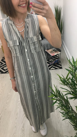 Moo Boutique Shirt Maxi Dress