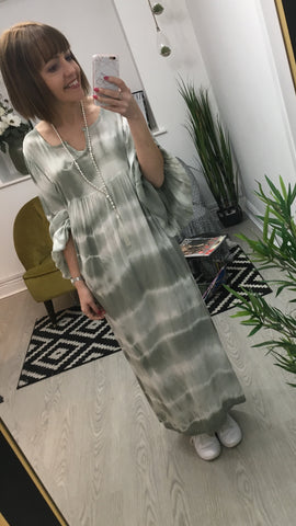 Moo Boutique Tie Dye Maxi Dress