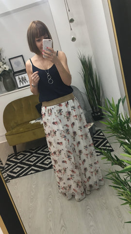 Moo Boutique Floral Maxi Skirt