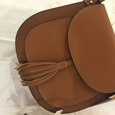 Moo Boutique Leather Satchel Bag