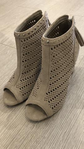 Carmela Open Toe Suede Boot