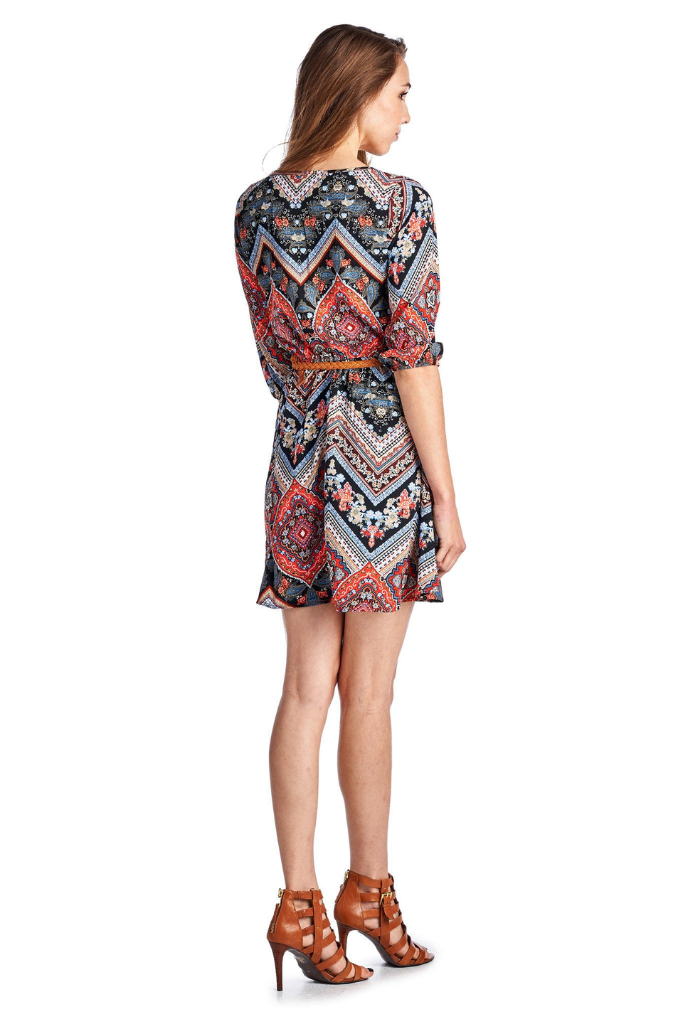 Women's Belted Tunic Dress