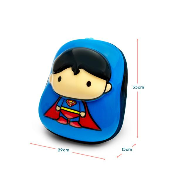 Justice League Superman 2D backpack measurement