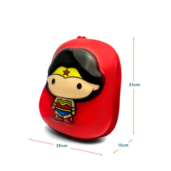 Justice League Wonder Woman 2D backpack measurement